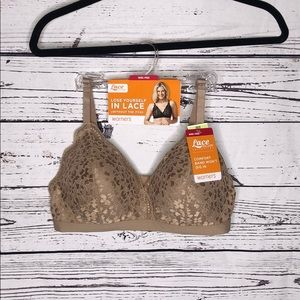 Warner's Lace Escape NWT 36B Nude Wire-Free Bra